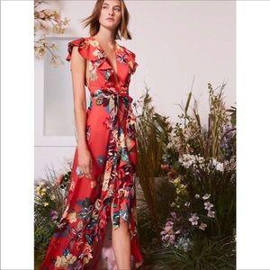 Alexis   Janna Wrap Dress   Calipso Red   XS